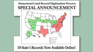 10 State's Homestead Records Now Online.