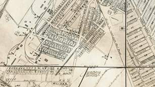A 1915 Calumet & Hecla Map of the Village of Red Jacket and vicinity.