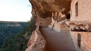 First courtyard and rooms in Balcony House cliff dwelling