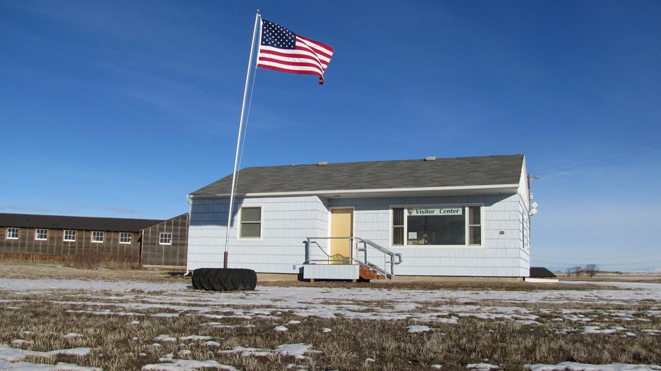 Historic Herrmann House is being used as the temporary Visitor Center at Minidoka NHS