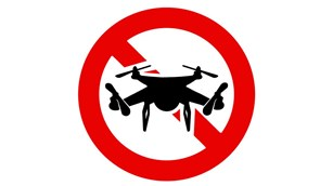 Unmanned Aircraft are prohibited symbol.