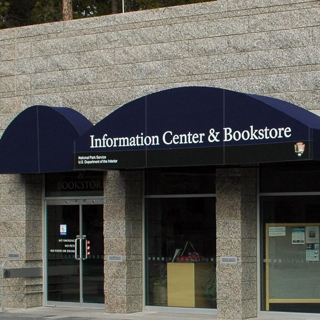 Photograph of the front of the Information Center