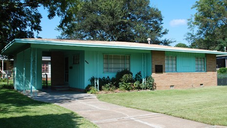 The Medgar and Myrlie Evers House is a one-story wood-frame house