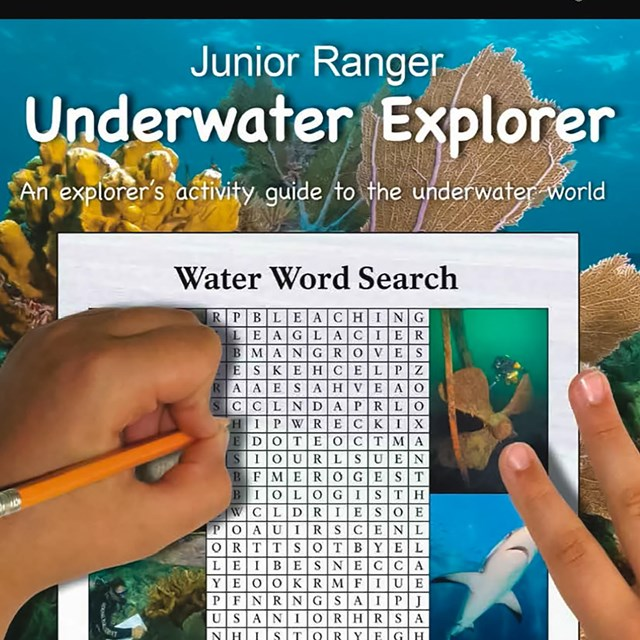 Front cover of the Underwater Explorer Junior Ranger Book