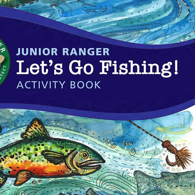 Cover of the let's go fishing junior ranger book