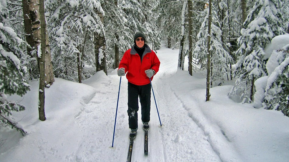 Cross-country skiing at Pictured Rocks