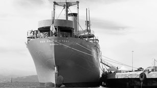 Photo of the SS Red Oak Victory Ship