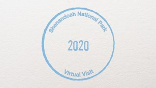 A stamp with the words: Shenandoah National Park 2020 Virtual Visit