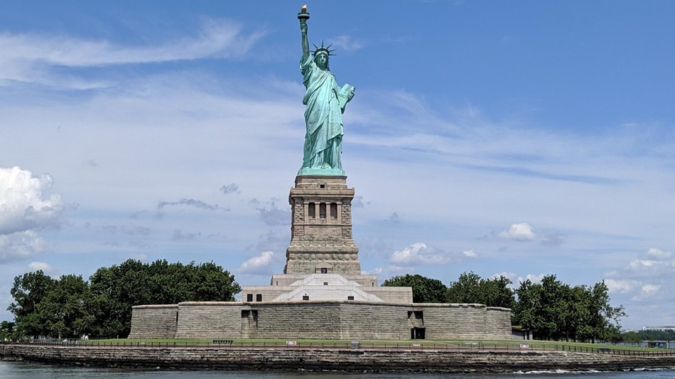 Photo of liberty island during daytime in upper new york bay