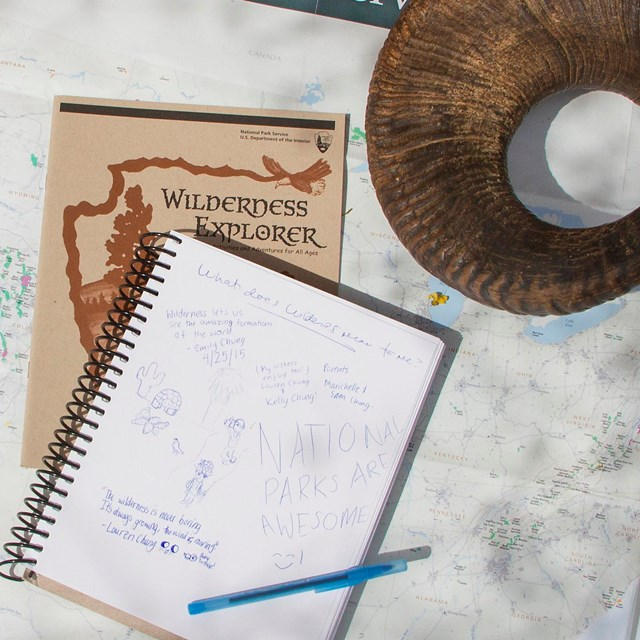 A map, notebook and artifact