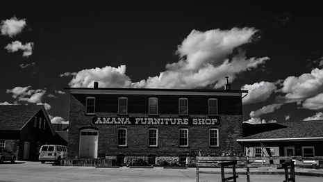 exterior of the amana furniture shop