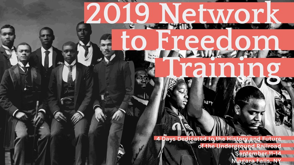 2019 Network to Freedom Training Save the Date with photo of African American activists