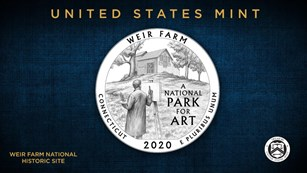 Image of Weir Farm NHS 2020 Connecticut America the Beautiful Quarter design