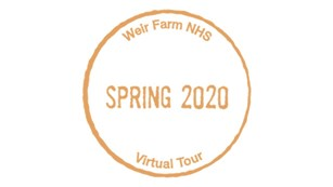 Image of Weir Farm NHS Spring 2020 Virtual Tour Passport Stamp links to activities