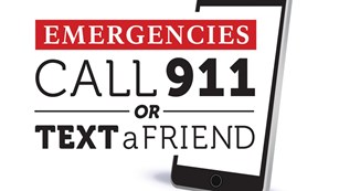 Call 911 for emergencies graphic.
