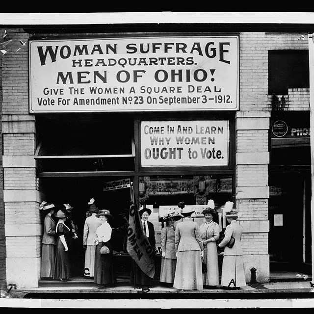 Woman suffrage headquarters, Ohio. Coll. Library of Congress