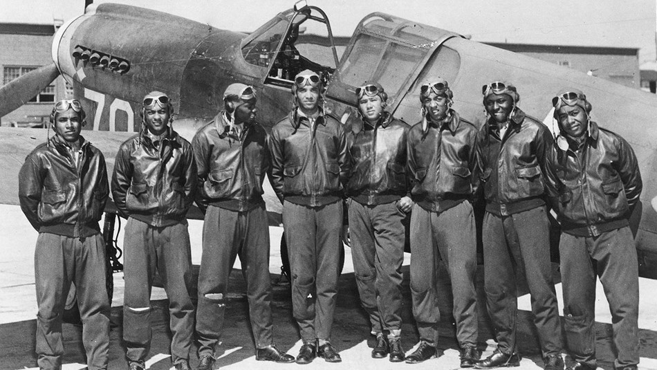 historic photo of Tuskegee Airmen