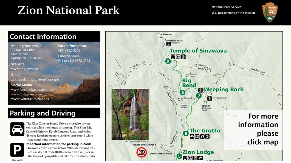 Zion Fall Information Sheet