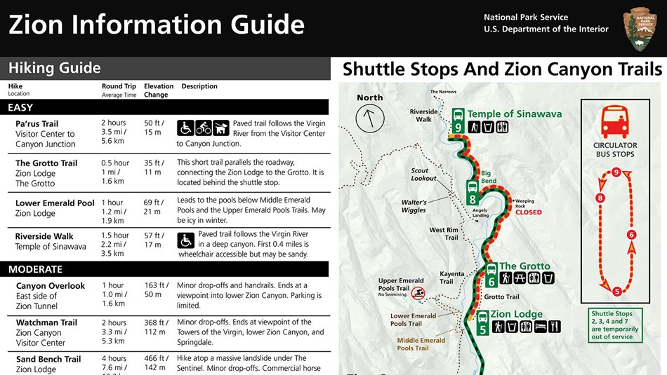 Zion Winter 2020 Information Guide