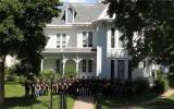 Singing in front of President Harry S Truman's home