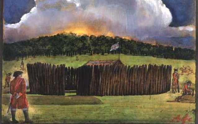 Illustration of Fort Necessity