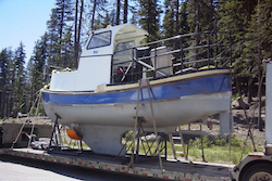 Boat used in bathymetry studies