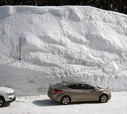 Snowbank at Park Headquarters - March 2016