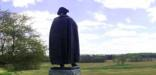 The sttue of general von Steuben looks out over the Grand Parade at Valley Forge.