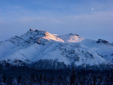Snow on Double Mt