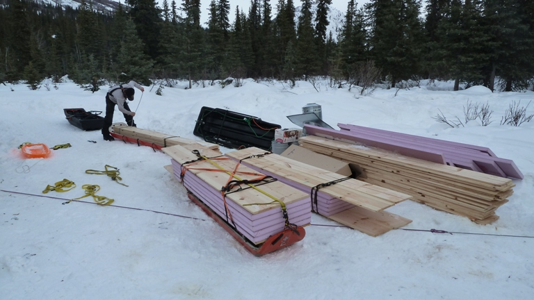 Supplies to haul laying out sleds