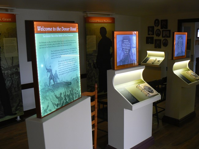 New exhibits at the Dover Hotel