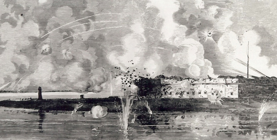 Fort Pulaski Under Fire, April 1862, Leslie's Weekly