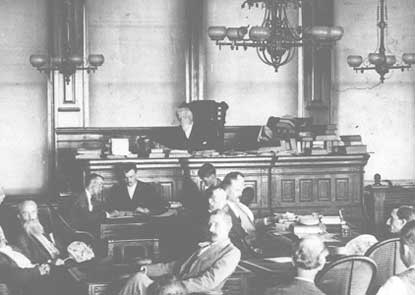 Judge Parker's Court in Session