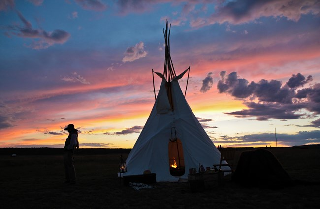Sunset on Tipi at 2014 Cultural Encounters Event