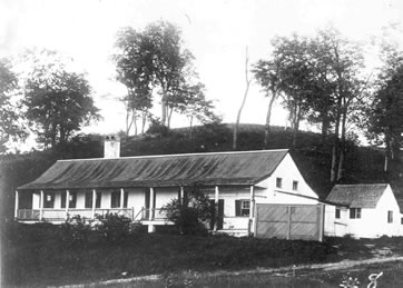 Building used as hospital in 1853 (Signal Corps photo)