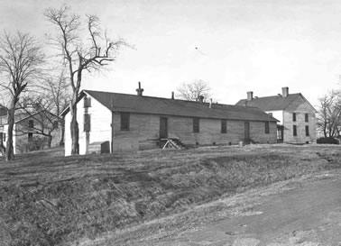 1897 hospital in one of these buildings (Signal Corps photo)