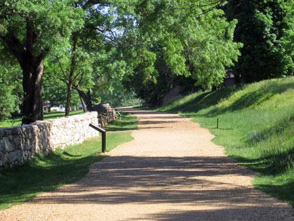 Sunken Road/Stone Wall