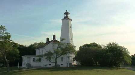 Image from Sandy Cam of the Sandy Hook Lighthouse.