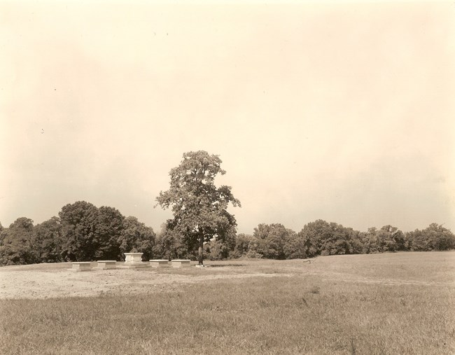 A photo of the burial ground in the 1930s