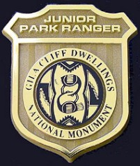 Gila Cliff Dwellings National Monument Junior Ranger Badge