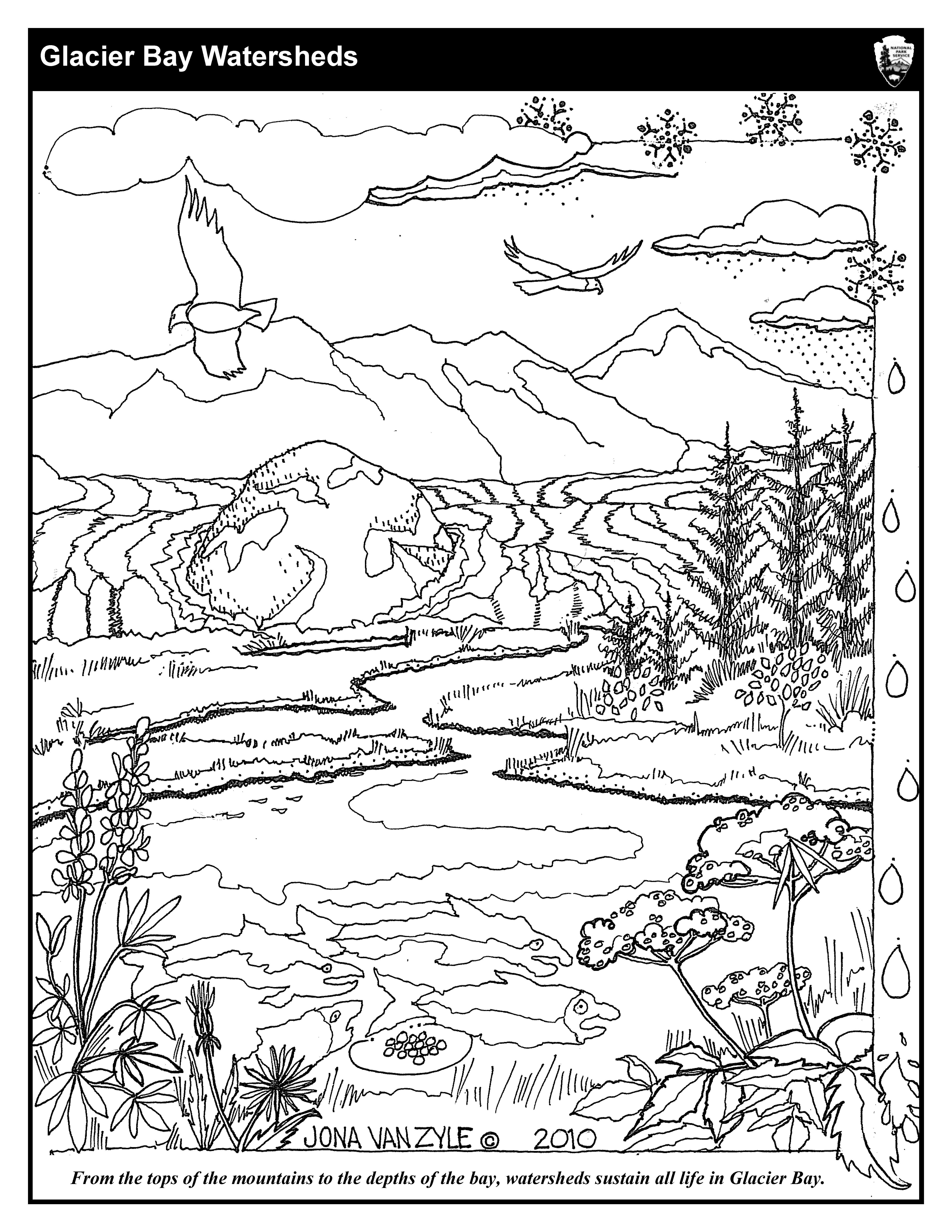 down the bay coloring pages | Coloring Sheets - Glacier Bay National Park & Preserve (U ...