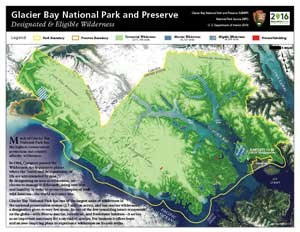 Wilderness Map of Glacier Bay