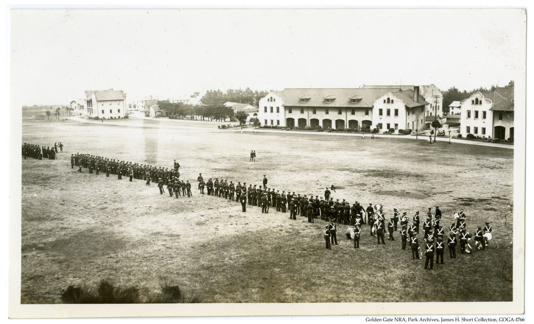 GOGA-1766 James H Short Collection Photograph of Troops in Formation at FOSC