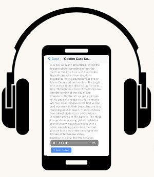 Graphic of a headset over a smart phone