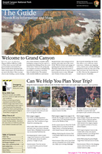 front page of 2014 North Rim Guide newspaper