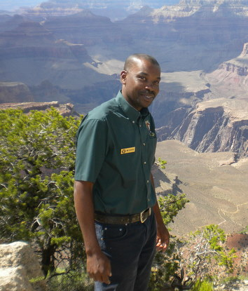 Marc Jean-Baptiste, U.S. World Heritage Fellow, in Grand Canyon Natioinal Park.