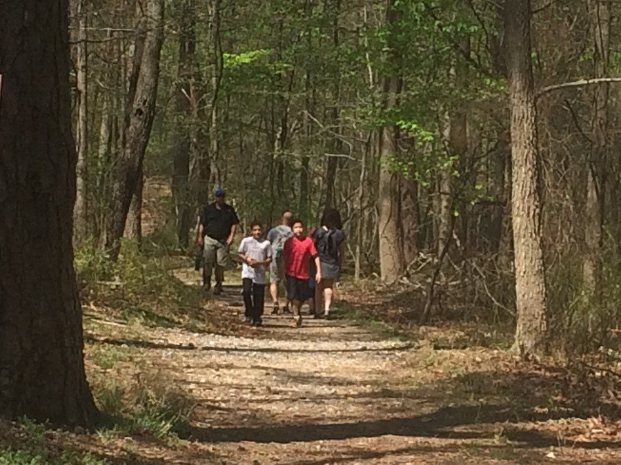 people walking the Azalea Trail
