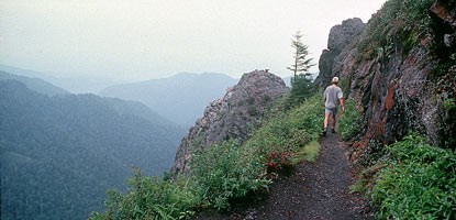 Charlies Bunion is a popular day hike destination.