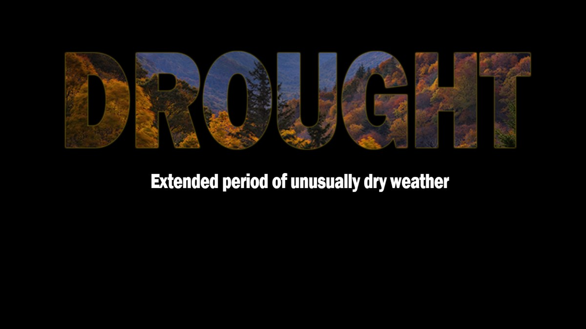 Drought text with image in text