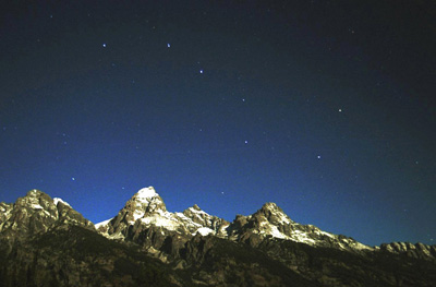 Big Dipper over the Teton Range